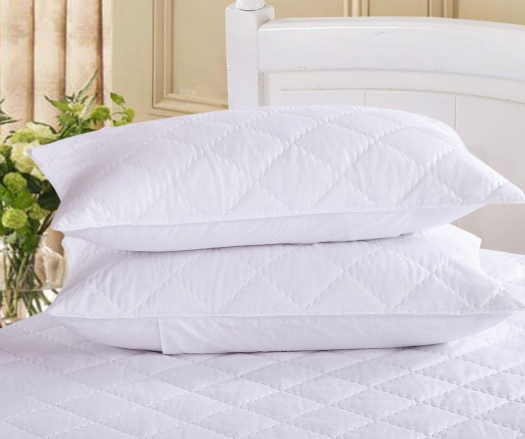 Quilted White Duck Down / Polyester Fiber Pillow PRD-QP9001